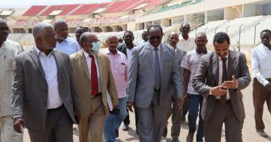 وزير الرياضة يؤكد ضرورة إكمال العمل بالمدينة الرياضية